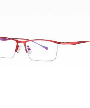 Štýlové pánske okuliare na prácu s počítačom v červenej farbe