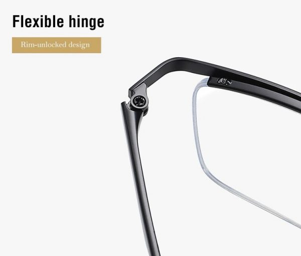 Štýlové pánske okuliare na prácu s počítačom v čiernej farbe
