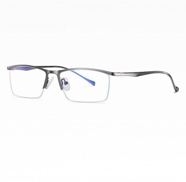 Štýlové pánske okuliare na prácu s počítačom v sivej farbe