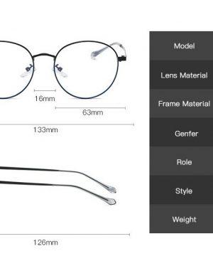 Štýlové vintage okuliare na prácu s PC so zlatým rámikom