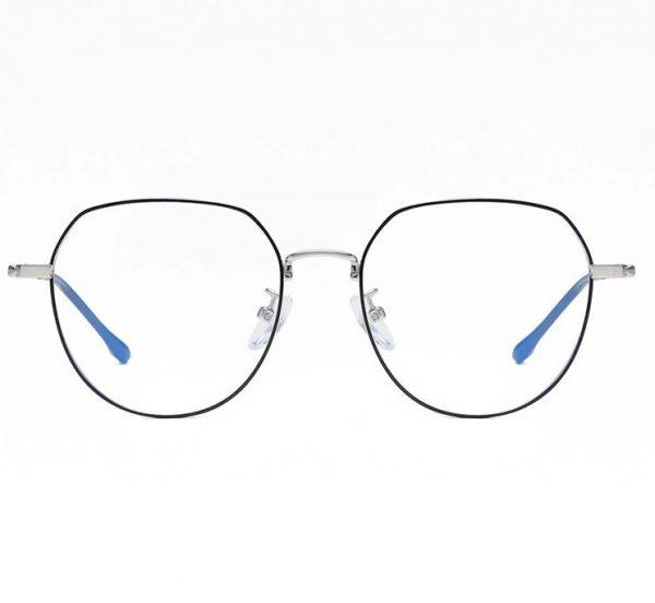 Vintage okuliare na prácu na počítači so strieborno-čiernym rámikom