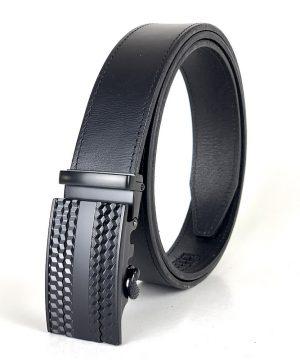 Pánsky kožený opasok s automatickou prackou BLACK CUBES