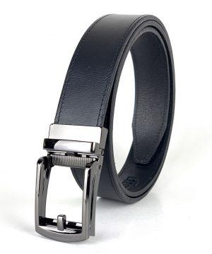 Pánsky kožený opasok s automatickou prackou BLACK PEARL