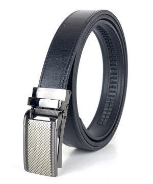 Pánsky kožený opasok s automatickou prackou SPORT, 3cm, čierna farba