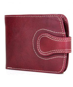 Pánska kožená peňaženka č.8467 v bordovej farbe, ručne tamponovaná