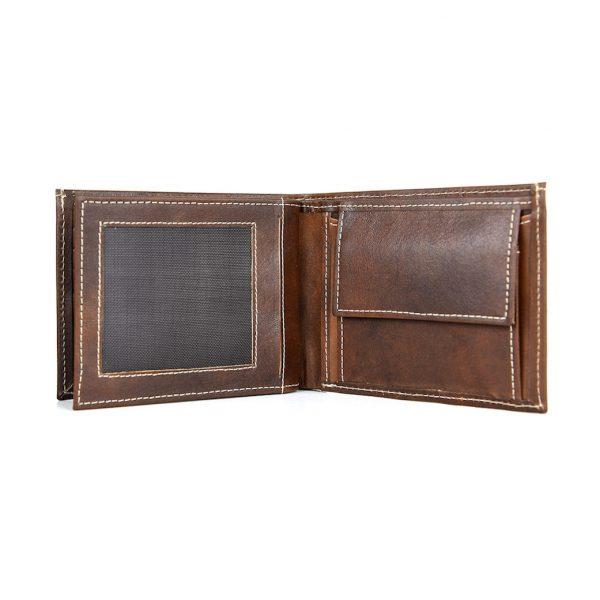 Pánska peňaženka z pravej kože č.8407 v tmavo hnedej farbe