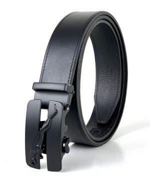 Pánsky kožený opasok s automatickou prackou BLACK PUMA