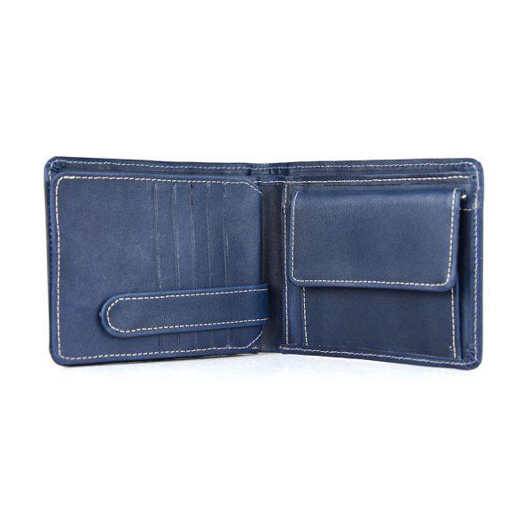 Pánska peňaženka z prírodnej kože č.7992 v modrej farbe