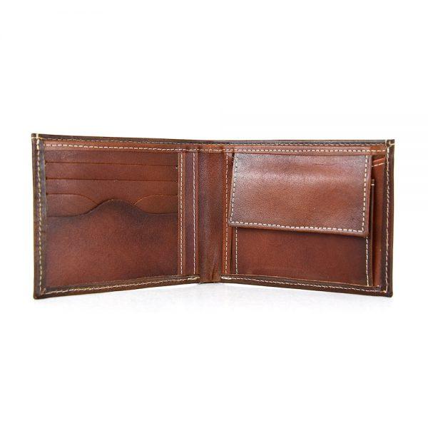 Pánska peňaženka z pravej kože č.8406 v Cigaro farbe