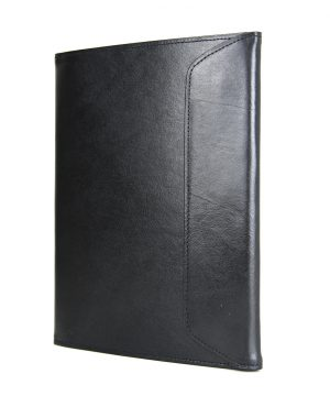 Kožený pracovný zápisník A5 v čiernej farbe značky VEGALM,,