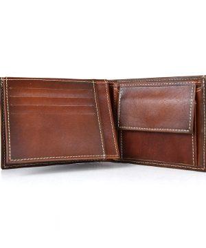 Pánska peňaženka z pravej kože č.8408 v Cigaro farbe, ručne natieraná