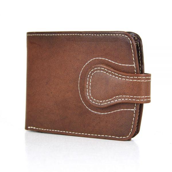 Elegantná kožená peňaženka č.8467 v hnedej farbe, ručne tamponovaná.
