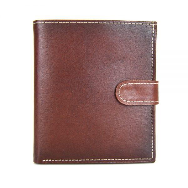 Luxusná exkluzívna kožená peňaženka č.8333 v Cigaro farbe, ručne tamponovaná