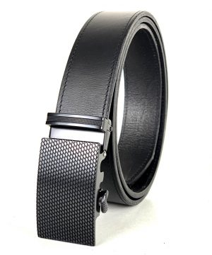 Pánsky kožený opasok s automatickou prackou BLACK NET